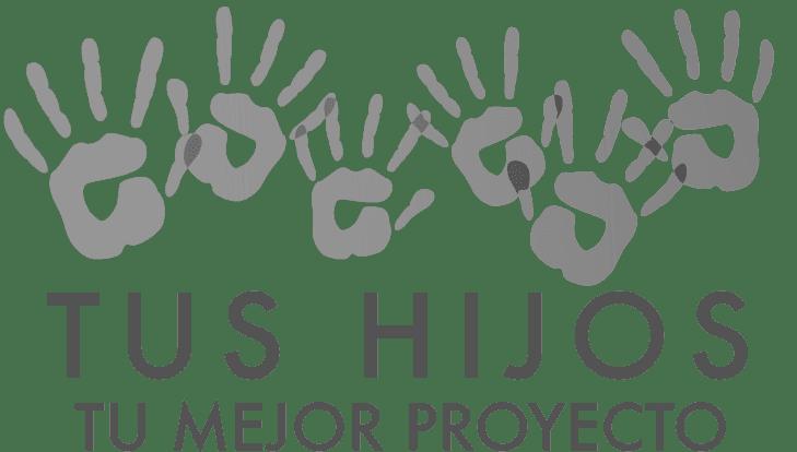 Logo gris Tus Hijos Tu Mejor Proyecto - Ayuda para padres con sus hijos - Elizabeth Piñeros